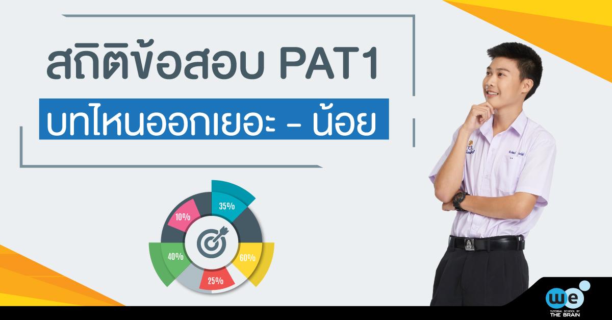 สถิติข้อสอบ-PAT1