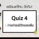 Quiz 4 : การดำรงชีวิตของพืช
