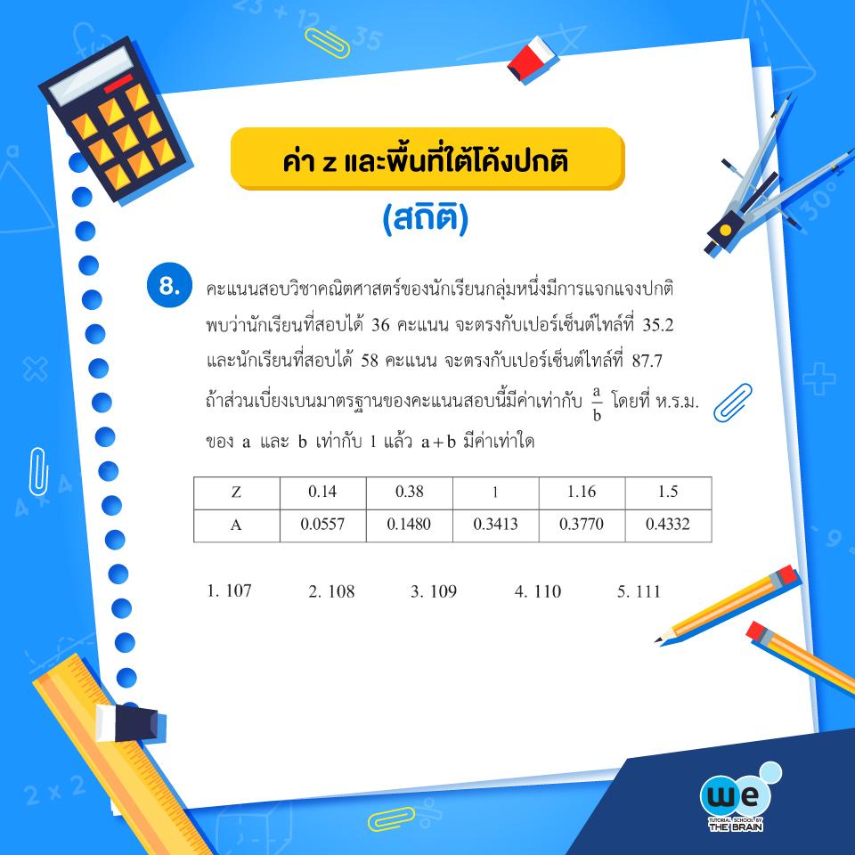 แนวข้อสอบ PAT1 ข้อที่ 8