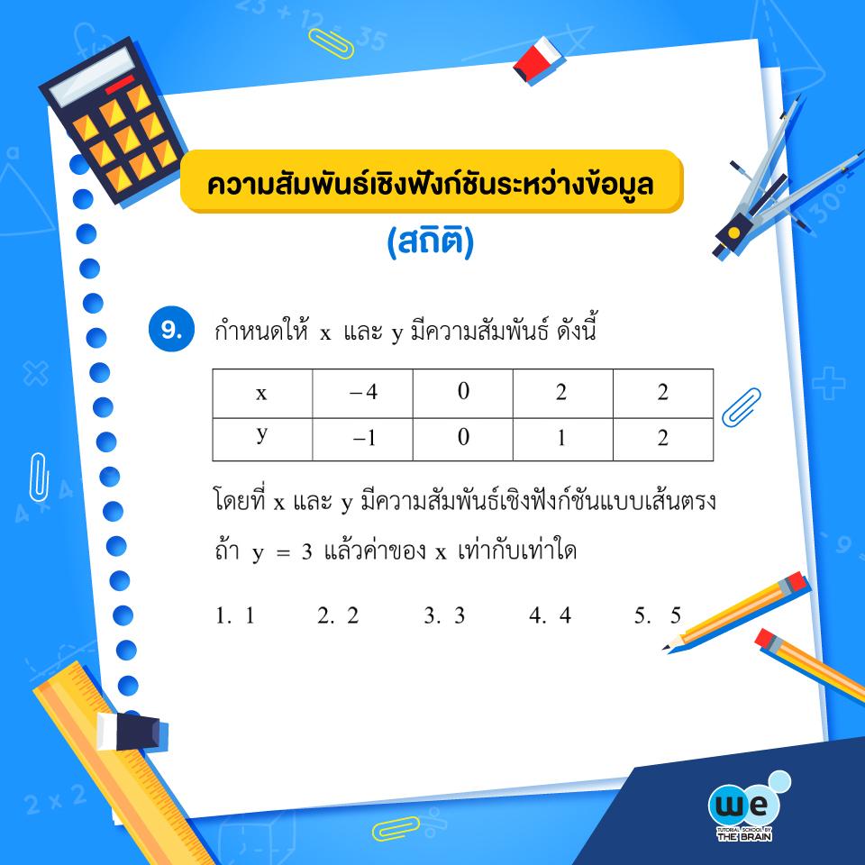 แนวข้อสอบ PAT1 ข้อที่ 9