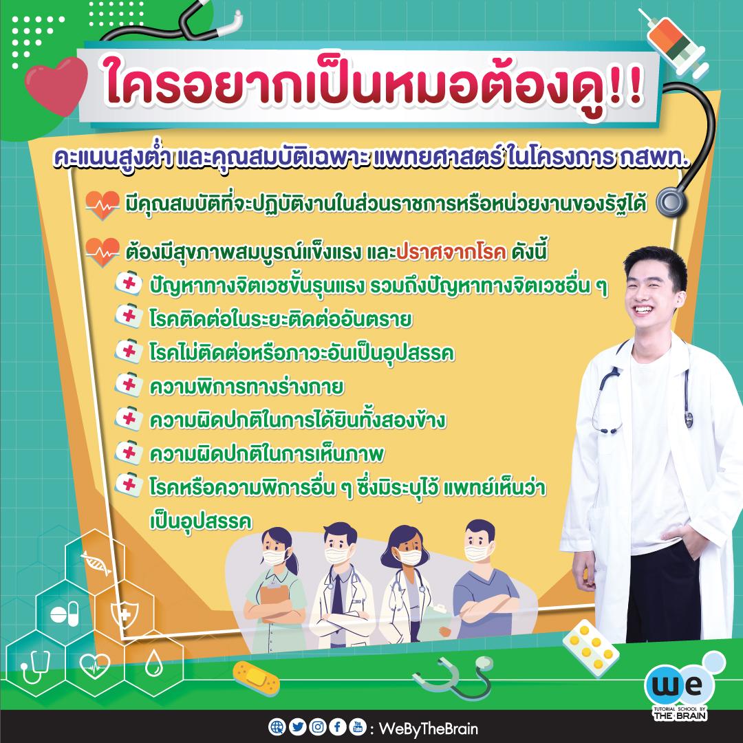 ใครอยากเป็นหมอต้องดู